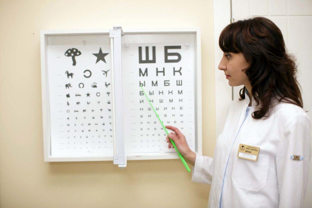 Картинка детей у глазного врача